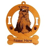4258 Yorkie in Motion Ornament Personalized with Your Dog's Name