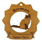 7090 Birman Cat Ornament Personalized with Your Cat's Name