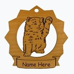 7183 Kitten Waving Ornament Personalized with Your Cat's Name