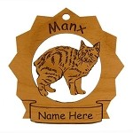 7236 Manx Cat  Ornament Personalized with Your Cat's Name