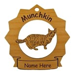 7249 Munchkin Cat  Ornament Personalized with Your Cat's Name
