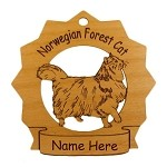 7262 Norwegian Forest Cat  Ornament Personalized with Your Cat's Name