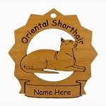 7275 Oriental Shorthair Cat  Ornament Personalized with Your Cat's Name