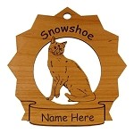 7416 Snowshoe Cat Ornament Personalized with Your Cat's Name