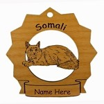 7419 Somali Cat Ornament Personalized with Your Cat's Name
