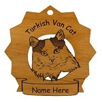 7445 Turkish Van Cat Ornament Personalized with Your Cat's Name