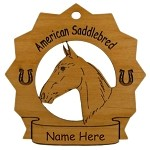 8001 American Sadlebred Head Ornament Personalized with Your Horse's Name