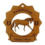 8016 Andalusian Horse Ornament Personalized with Your Horse's Name