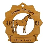 8025 Anglo Norman Horse Ornament Personalized with Your Horse's Name