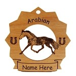8048 Arabian Horse Running Ornament Personalized with Your Horse's Name
