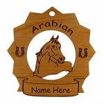 8049 Arabian Horse Ornament Personalized with Your Horse's Name