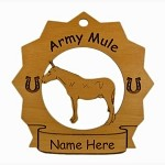 8055 Army Mule Ornament Personalized with Your Mule's Name