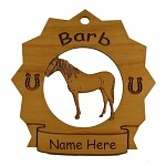 8063 Barb Horse Ornament Personalized with Your Horse's Name