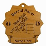 8070 Barrel Racer Horse Ornament Personalized with Your Horse's Name
