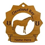 8087 Cleveland Bay Horse Ornament Personalized with Your Horse's Name