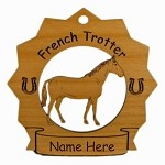 8126 French Trotter Horse Ornament Personalized with Your Horse's Name