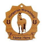 8150 Hungarian Warmblood Horse Ornament Personalized with Your Horse's Name