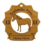 8155 Icelandic Pony Ornament Personalized with Your Pony's Name