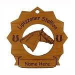 8175 Lipizzaner Horse Ornament Personalized with Your Horse's Name