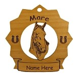 8184 Mare Horse Ornament Personalized with Your Horse's Name