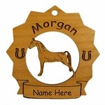 8191 Morgan Horse Ornament Personalized with Your Horse's Name