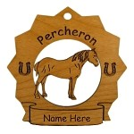 8220 Percheron Horse Ornament Personalized with Your Horse's Name