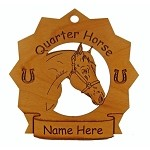 8236 Quarter Horse Ornament Personalized with Your Horse's Name
