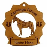 8267 Royal Carriage Horse Ornament Personalized with Your Horse's Name