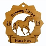8273 Running Horse Ornament Personalized with Your Horse's Name