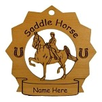 8280 Saddle Horse Ornament Personalized with Your Horse's Name