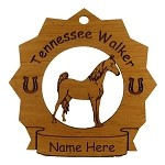 8303 Tennessee Walker Horse Ornament Personalized with Your Horse's Name