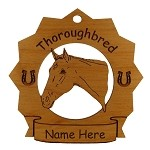 8310 Thoroughbred Head Horse Ornament Personalized with Your Horse's Name