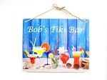 8x10 Drinks on Sand Design Personalized Wall or Door Sign