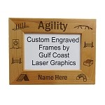 Agility Picture Frame Available in 3 Sizes Personalized with Your Dog's Name