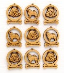 American Eskimo Dog Ornament Minis - Set of 9