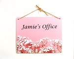 8x10 Baby's Breath on Pink Design Personalized Wall or Door Sign