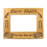 Barn Hunt Picture Frame Available in 3 Sizes Personalized with Your Dog's Name