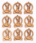 Basenji Dog Ornament Minis - Set of 9