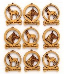 Belgian Malinois Dog Ornament Minis - Set of 9