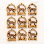 Berger Picard Dog Ornament Minis - Set of 9