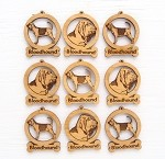 Bloodhound  Dog Ornament Minis - Set of 9