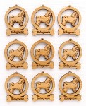 Bolognese Dog Ornament Minis - Set of 9