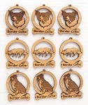Border Collie Dog Ornament Minis - Set of 9