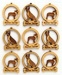 Boston Terrier Dog Ornament Minis - Set of 9