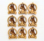 Boxer Cropped Dog Ornament Minis - Set of 9