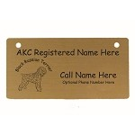 C1779 Black Russian Terrier Crate Tag Personalized With Your Dog's Name