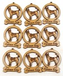 Canaan Dog Ornament Minis - Set of 9