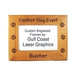 Coolest Dog Ever Picture Frame Available in 3 Sizes Personalized with Your Dog's Name