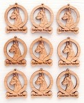 Doberman PInscher Dog Ornament Minis - Set of 9