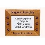 Doggone Adorable Picture Frame Available in 3 Sizes Personalized with Your Dog's Name